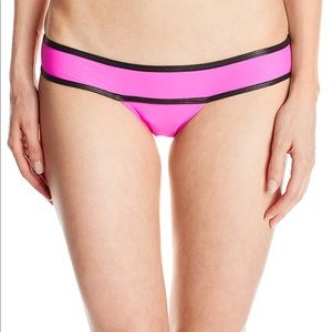 NWOT PilyQ Neo Block Piped Banded Bikini Bottom